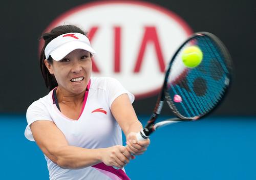 中国选手郑洁在比赛中