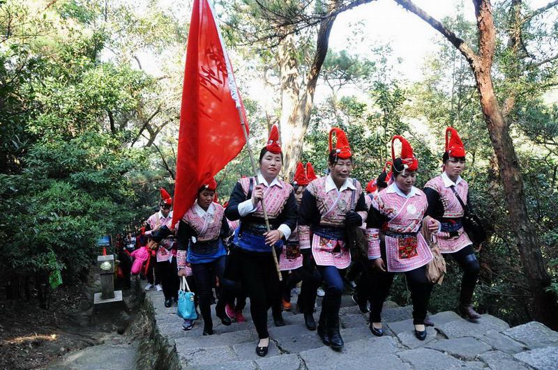 2014 中国体育彩票 新年群众登高健身活动举行图片