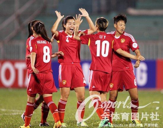 女足亚洲杯-杨丽大四喜韩鹏3助攻 中国7-0大胜