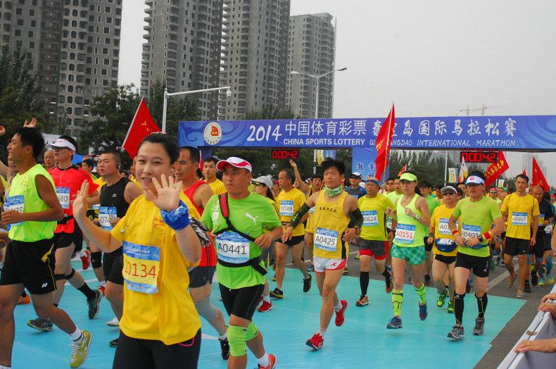 2014秦皇岛国际马拉松在秦皇岛市
