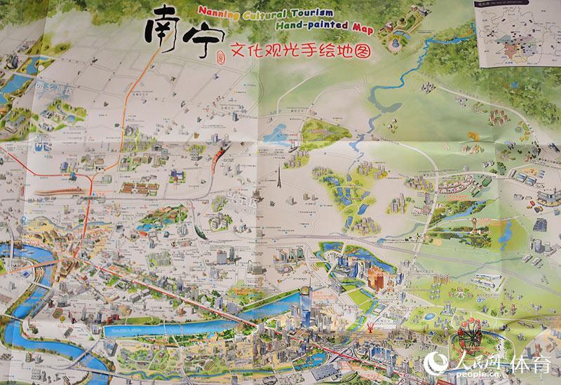 南宁文化观光手绘地图(张红)