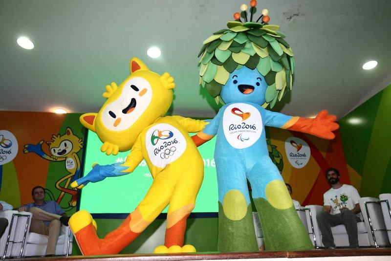 里约奥运会,残奥会吉祥物亮相图片