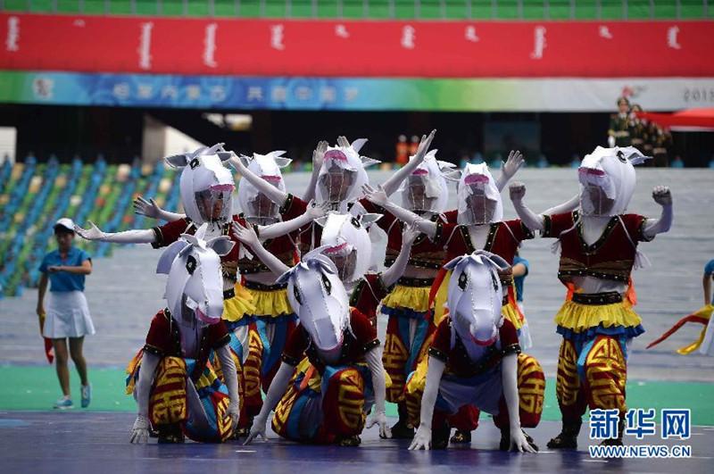 高清:第十届全国少数民族传统体育运动会开幕式图片