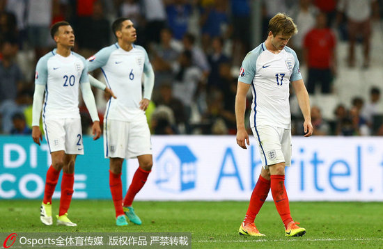 欧洲杯-别列祖斯基补时破门俄罗斯1-1战平英格兰