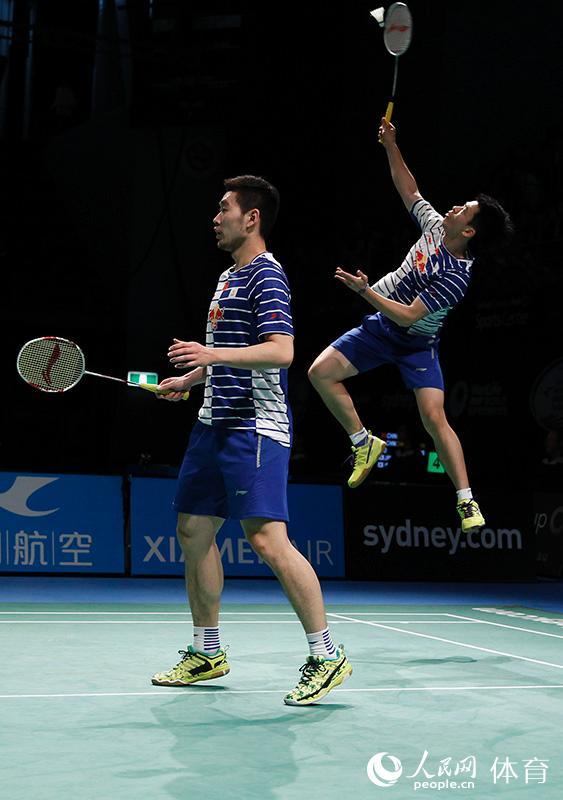 高清:澳羽赛刘成/郑思维败北 中国男双止步半决赛