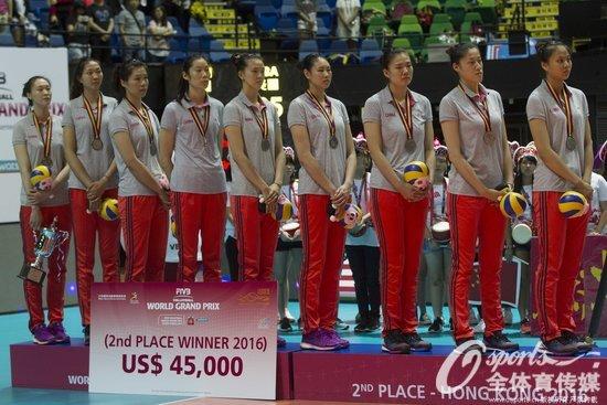 6月26日,中国女排0比3负于美国队,最终获得大奖赛香港站亚军。