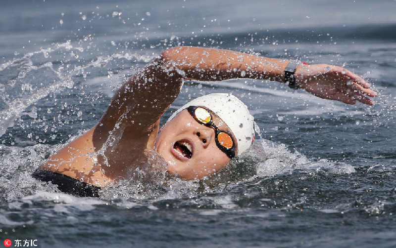 开水域游泳比赛中