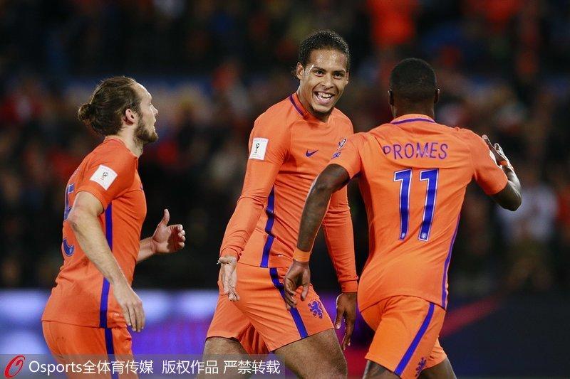 世预赛-普罗梅斯梅开二度 荷兰4-1胜白俄罗斯