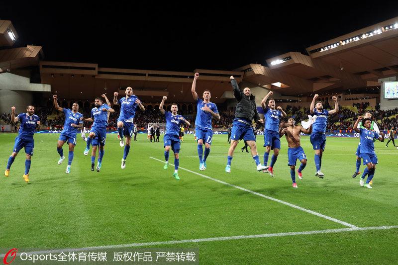 欧冠-伊瓜因梅开二度尤文图斯客场2-0胜摩纳哥