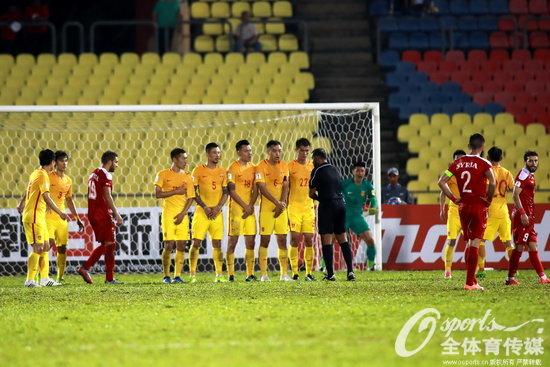 2017年6月13日,2018年俄罗斯世界杯亚洲区预选赛:叙利亚2-2中国。