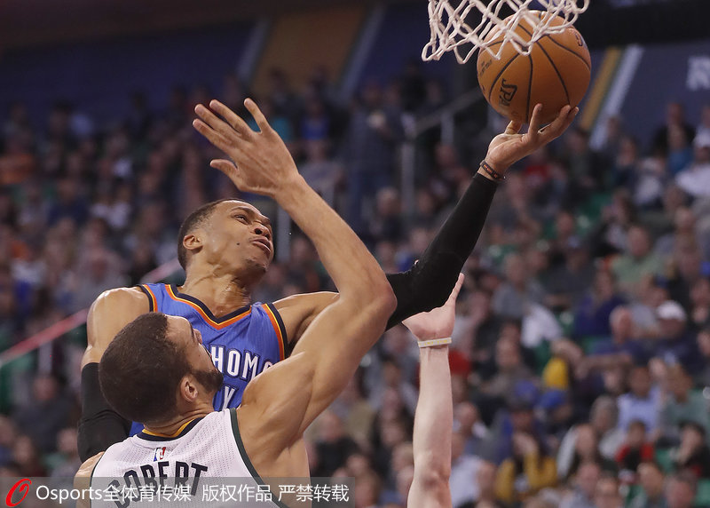 NBA颁奖典礼:威少力压哈登莱昂纳德当选常规赛MVP