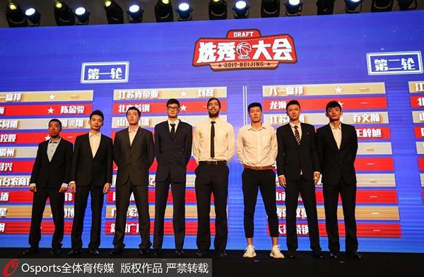 2017CBA选秀大会举行港台球员包揽前三甲