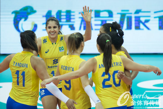 3-1力擒意大利 巴西成功卫冕世界女排大奖赛冠军