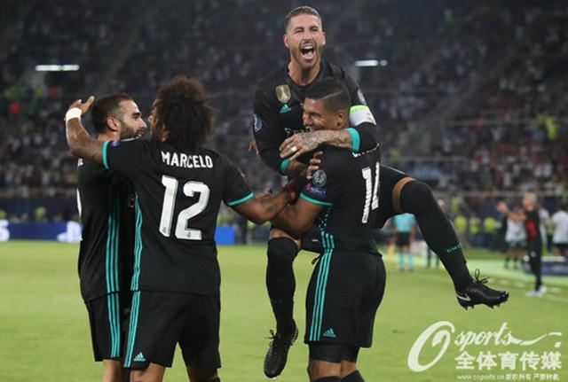 皇马2-1曼联蝉联欧超杯 卡塞米罗、伊斯科建功 卢卡库破门