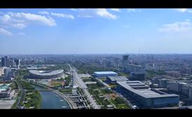 一带一路会议进行时奥林匹克公园美景