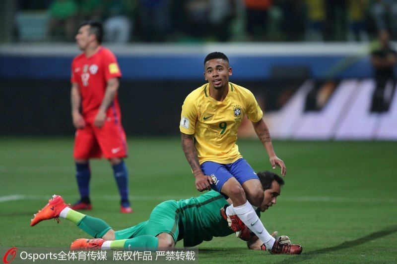 世预赛-遭巴西横扫智利因净胜球劣势无缘世界杯