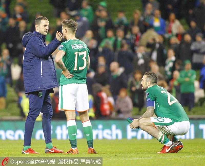 爱尔兰队员失望不已