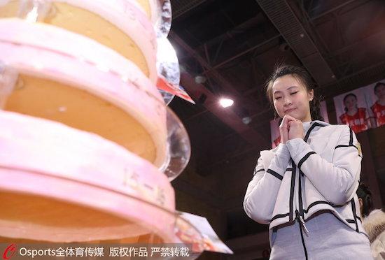 惠若琪在退役仪式上对自己未来生活许下愿望