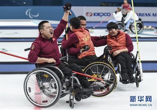 中国队在半决赛击败加拿大队(资料图)