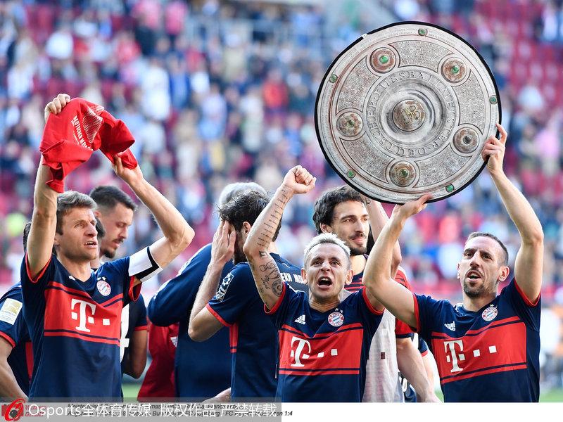 拜仁提前5轮夺冠