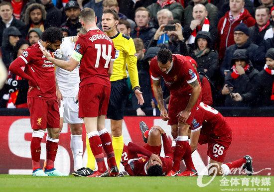 利物浦官宣张伯伦膝伤赛季报销 无缘俄罗斯世界杯