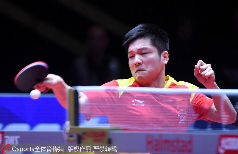 2018世乒赛团体赛:樊振东遭遇苦战中国男队3