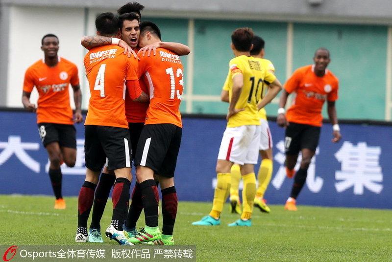 北京人和庆祝进球