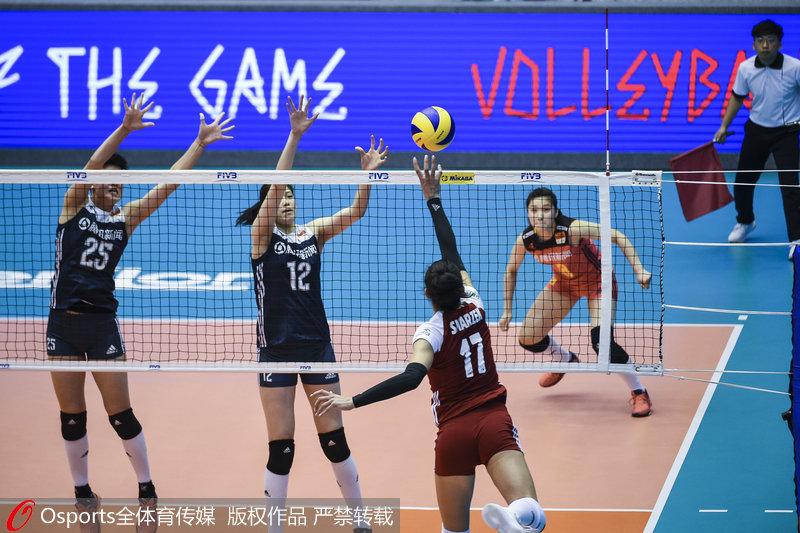 2018世界女排联赛澳门站:李盈莹19分 中国2-3