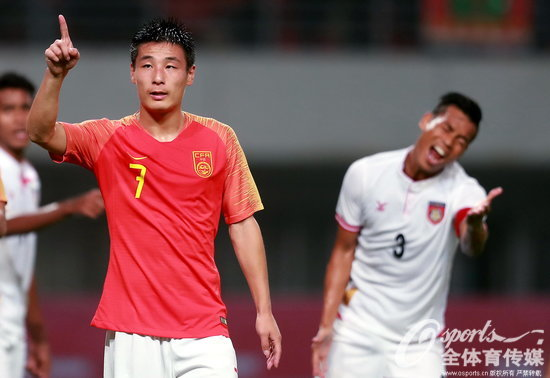 2018年5月26日,2018年国际足球友谊赛:中国1:0缅甸,武磊一击致命助国足小胜。 (Osports全体育传媒 版权作品 严禁转载)