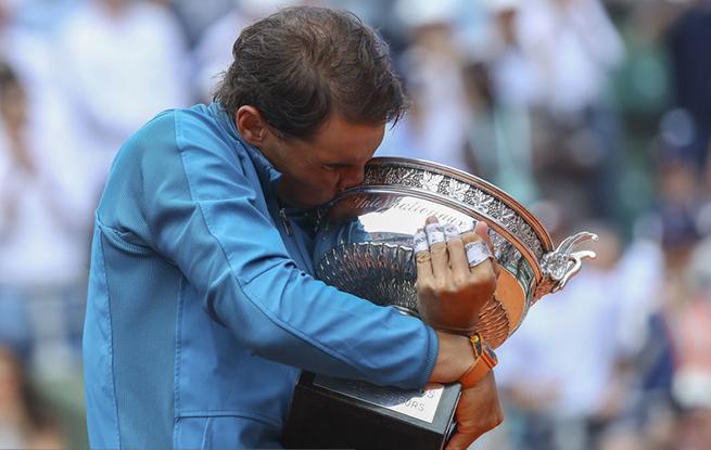 高清:法网-纳达尔力克新秀蒂姆 第11次夺法网冠军