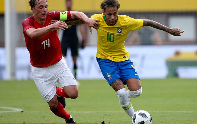 热身赛-内马尔热苏斯库鸟进球 巴西3-0胜奥地利