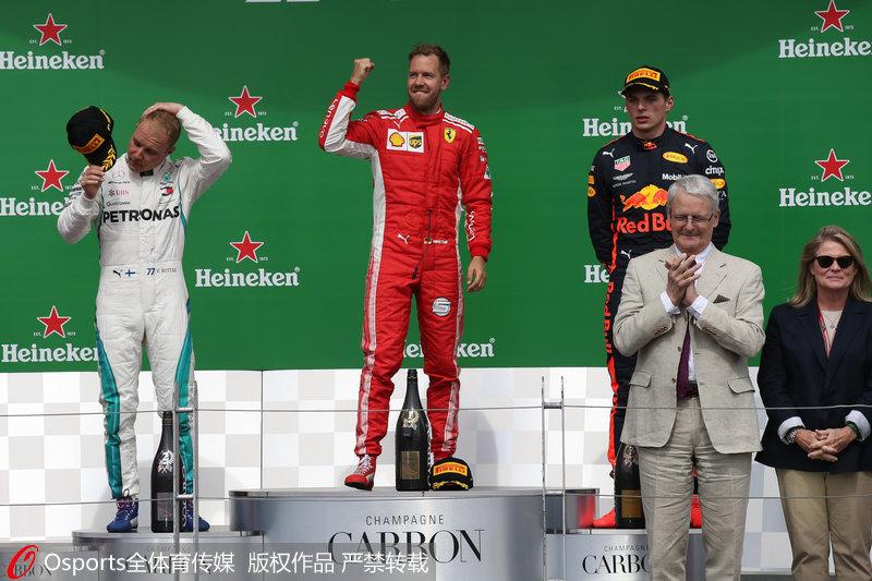 维特尔杆位发车轻松夺冠。