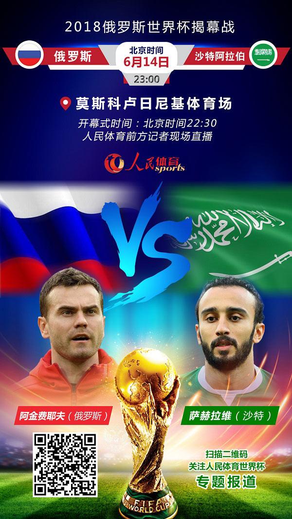 海報:2018世界杯揭幕戰 俄羅斯VS沙特