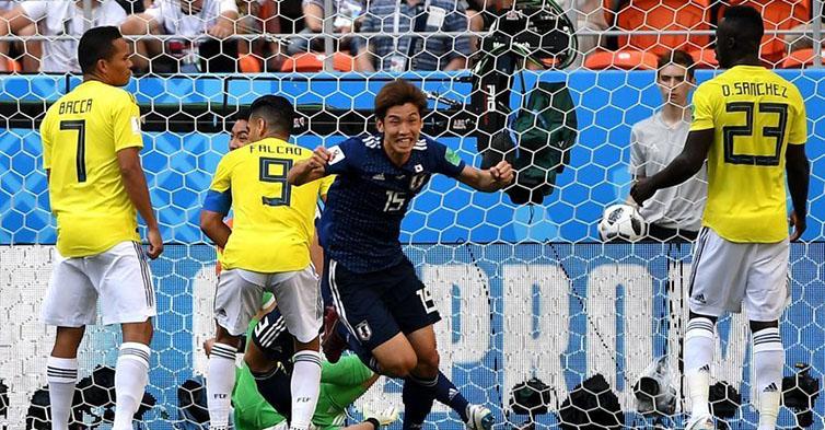 高清:香川、大迫勇也建功 日本2-1力克十人哥伦比亚