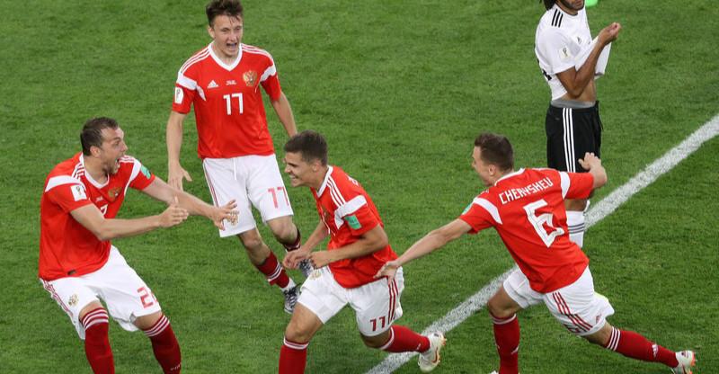 高清:切里舍夫久巴建功 俄罗斯3-1胜埃及