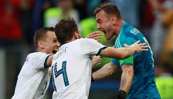 俄罗斯点球大战5-4淘汰西班牙晋级八强