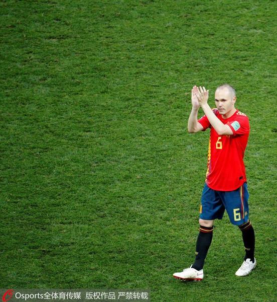 西班牙无缘世界杯八强 伊涅斯塔宣布退出国家队