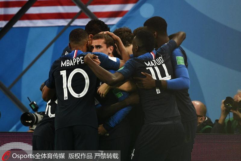 乌姆蒂蒂头球破门法国1-0比利时晋级决赛70.85.48.248