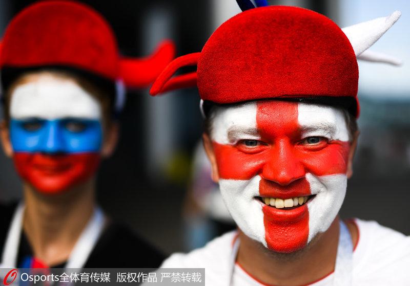 高清:英格兰比利时争夺季军 球迷造势乐翻天