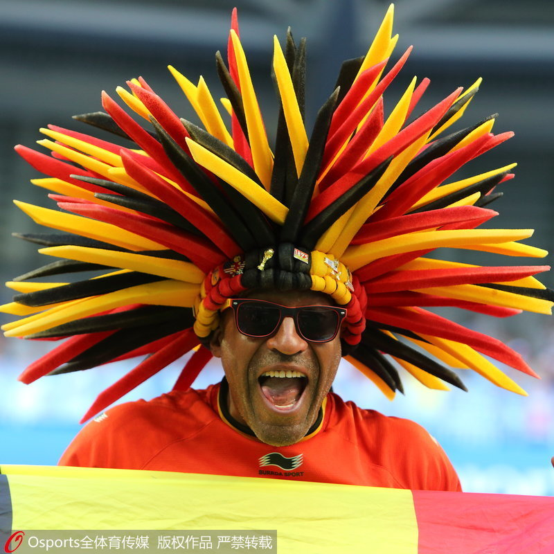 高清:欧洲红魔2-0胜三狮军团 比利时球迷聚集欢庆