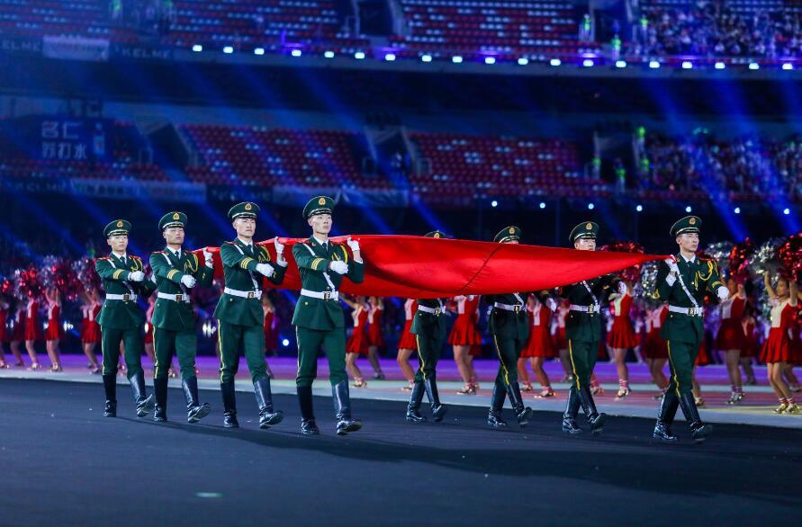 高清:山西省第十五届运动会开幕一场视觉盛宴