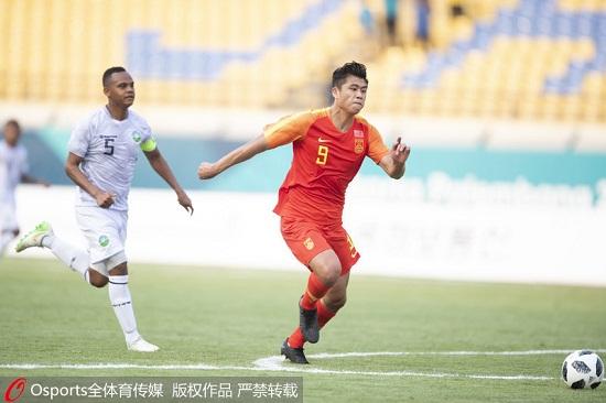 亚运-U23国足首战6-0大胜东帝汶高准翼梅开二度