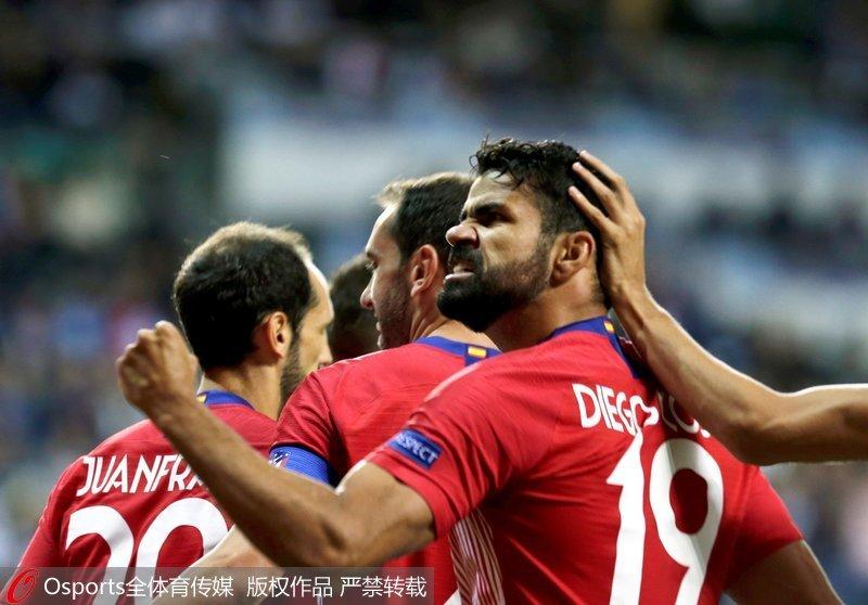 欧洲超级杯-科斯塔梅开二度皇马加时赛2-4不敌马竞