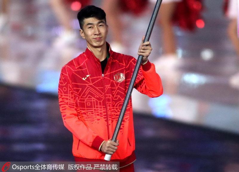 高清:盘点雅加达亚运会中国代表团近几届开幕式旗手一览