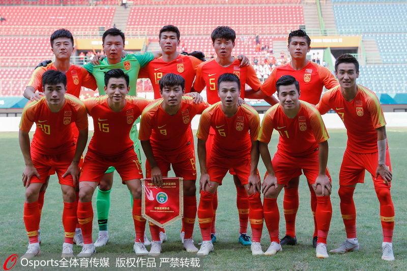 中国U23首发合影