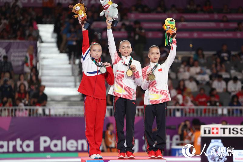 陈一乐、章瑾分获平衡木冠军和季军