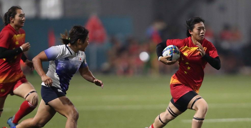 高清:女子橄榄球决赛 中国5-7负日本憾获亚军