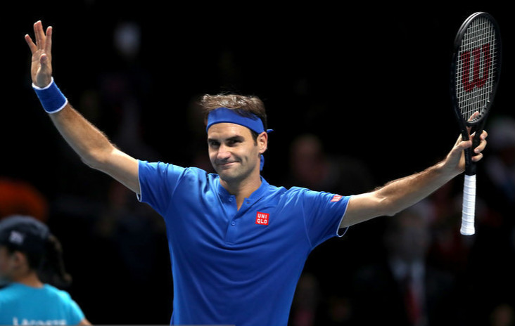 高清:ATP年终总决赛 费德勒2-0横扫蒂姆夺首胜