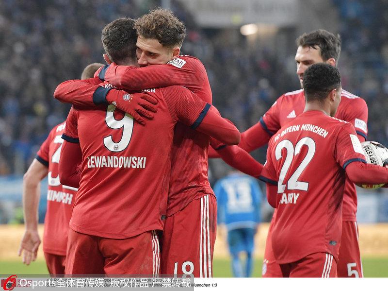 拜仁慕尼黑庆祝胜利
