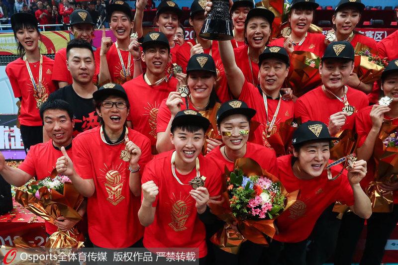 高清:北京女排3-1胜天津女排 总比分3-0首夺职业联赛总冠军【3】